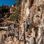 MTB Südtirol Bärenfalle Klettersteig