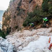 Schnee Ski MTB Bike Trail Gletscher Eis